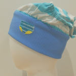 Blue stripes panty hat cosplay